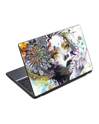 jual skin laptop abstraction painting girl