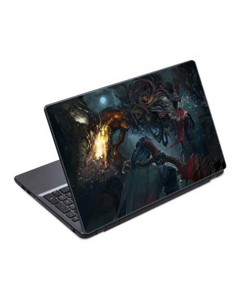 jual skin laptop bloodborne hunter monster