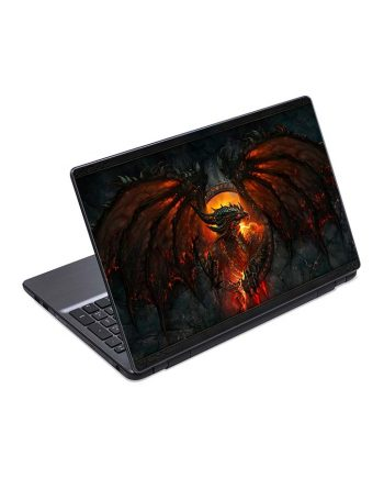 jual skin laptop dragon fire face wings