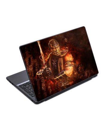 jual skin laptop mortal kombat scorpion