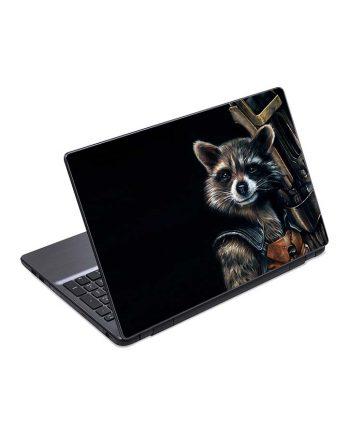 jual skin laptop raccoon rocket