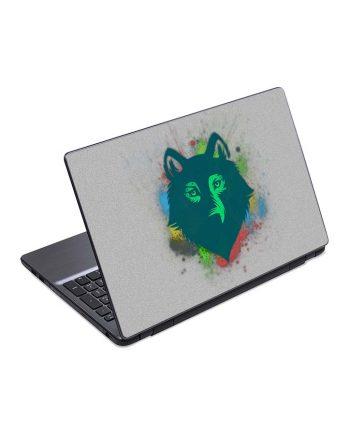 jual skin laptop wolf face drawing